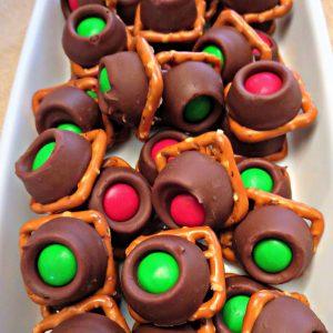 Caramel Chocolate Pretzel Buttons