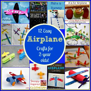 12 Easy Airplane Crafts For 2 Year Olds