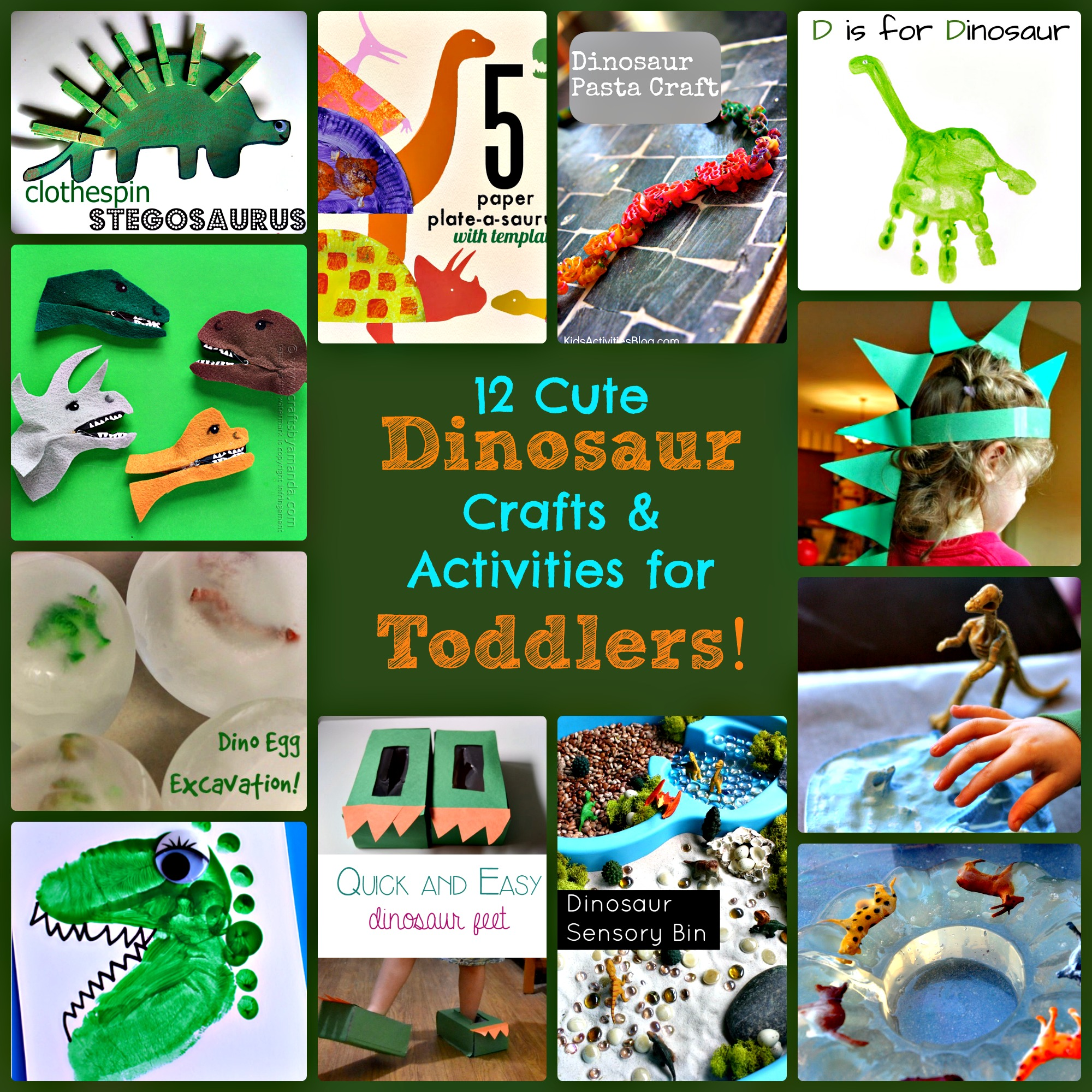 12 Dinosaur Crafts and Activities for Toddlers  sc 1 st  Sunshine Whispers & 12 Cute Dinosaur Crafts and Activities for Toddlers!