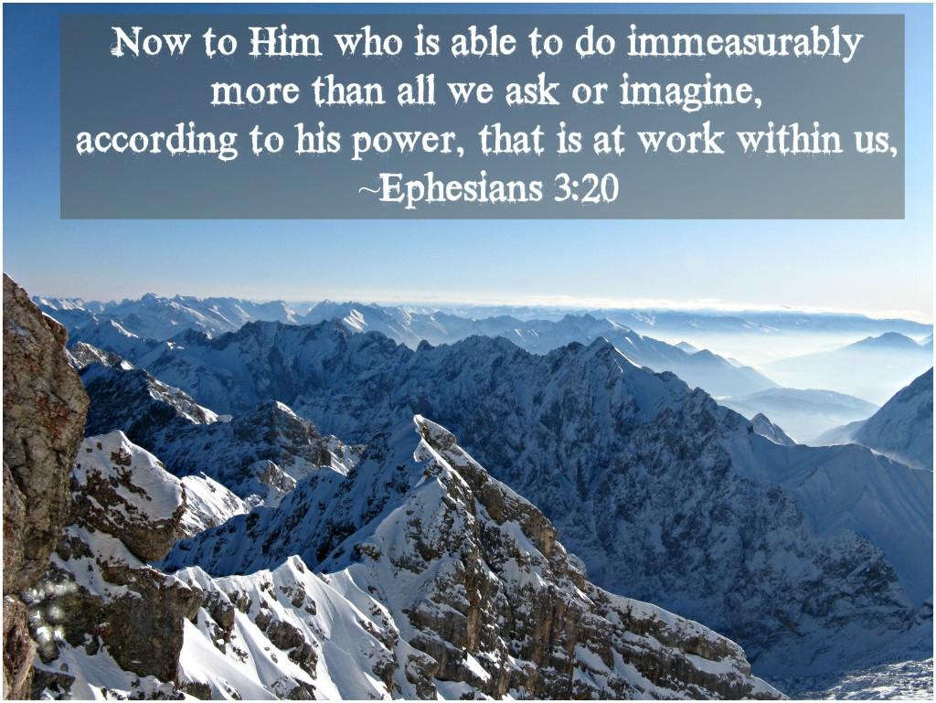 Esphesians 3:20
