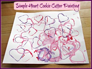 Cookie Cutter Heart Crafts for Kids
