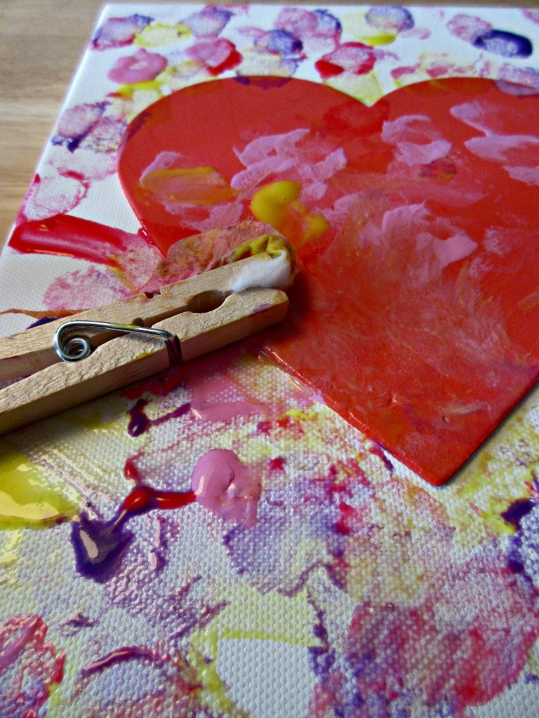 heart painting crafts for kids