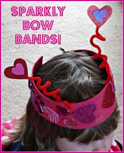 Sparkly Bow Bands Crafts for Kids