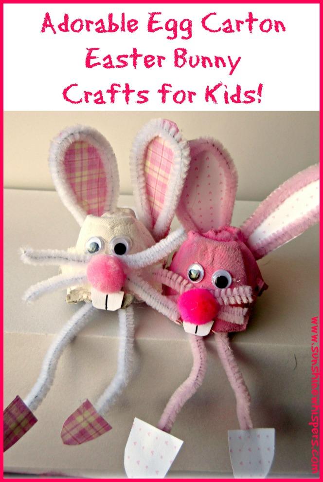 egg carton easter bunny crafts for kids