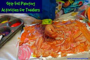qtip foil painting activities for toddlers