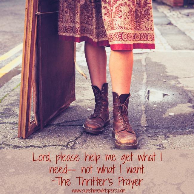 The Thrifter's Prayer