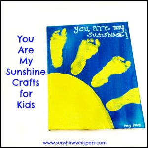 'You Are My Sunshine' Handprint and Footprint Crafts for Kids