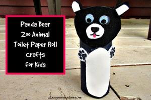 panda bear zoo animal toilet paper roll crafts for kids 2