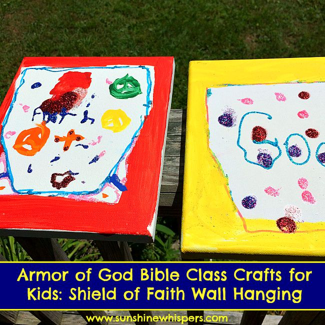 Armor Of God Bible Class Crafts For Kids Shield Of Faith Wall Hanging