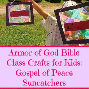armor of god bible class crafts for kids gospel of peace suncatchers