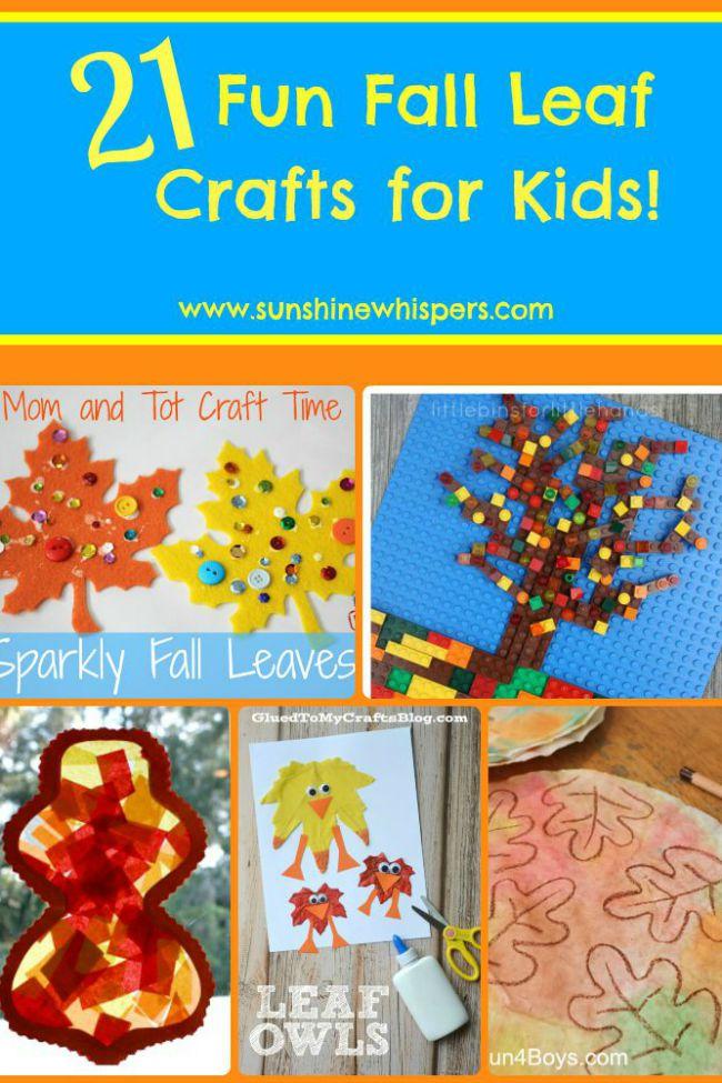 fun fall leaf crafts for kids
