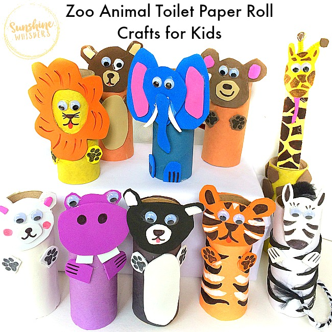 craft paper roll 10 adorable zoo animal toilet paper roll crafts for 1608