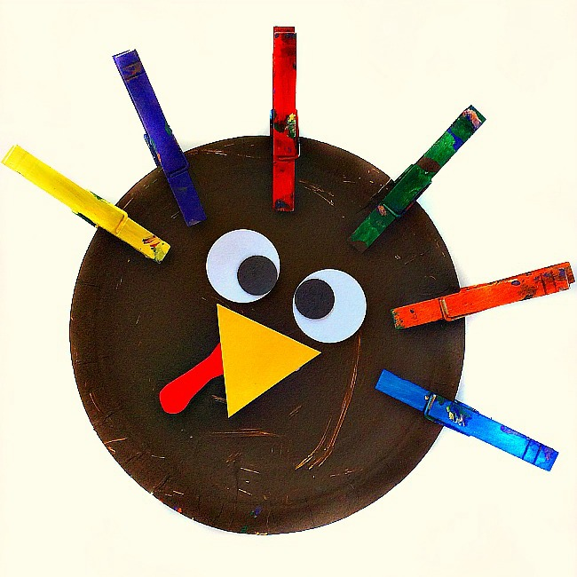clothespin turkey crafts for kids 3