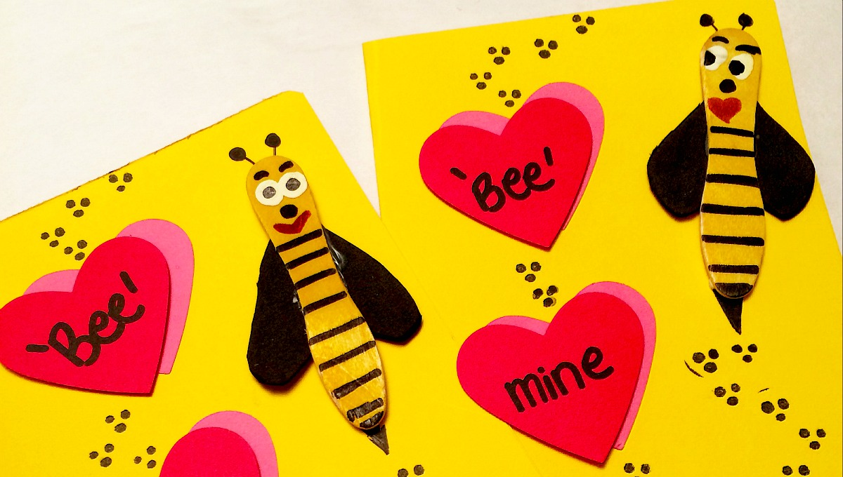 Adorable Bee Mine Valentines Day Cards for Kids – Bee Valentine Cards