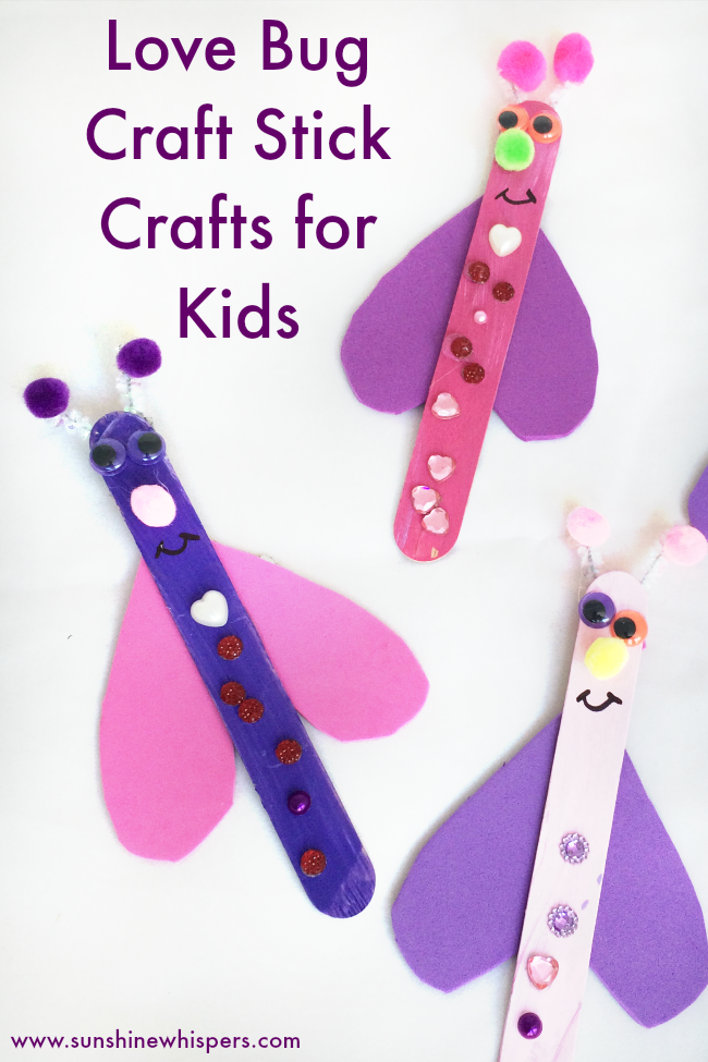 love bug craft stick crafts for kids