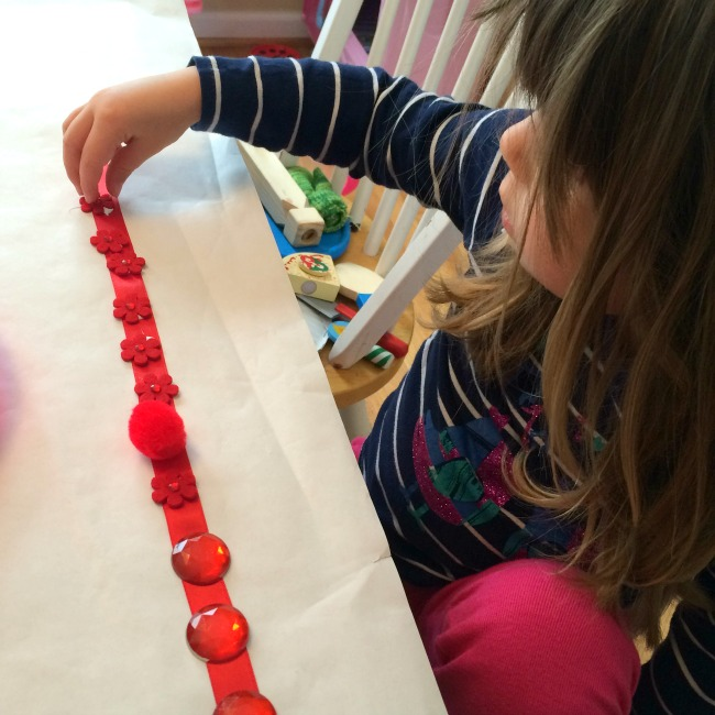 rainbow ribbon craft for kids