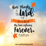 Give Thanks to the Lord 1