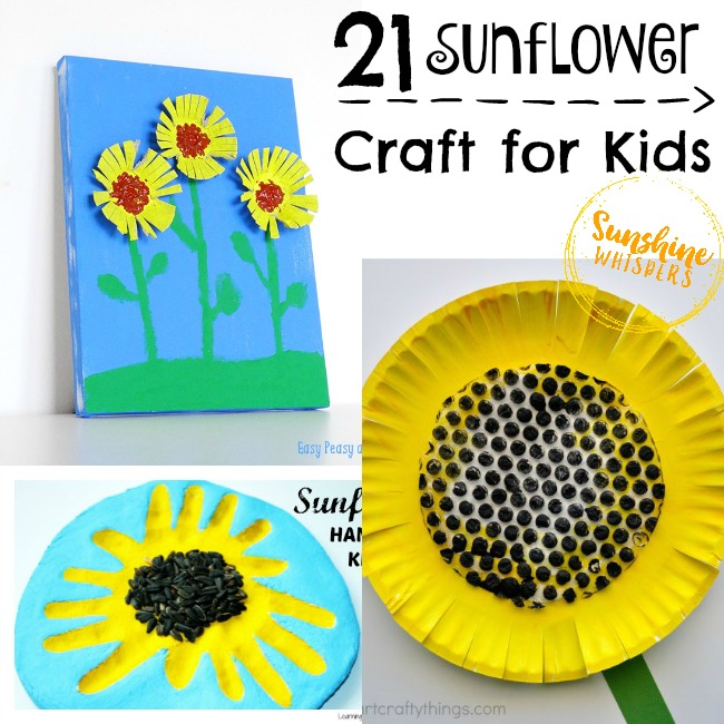 Happy Sunflower Crafts For Kids
