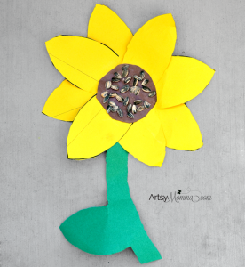 Sunflower Craft For Elementry Ages Artsy Momma