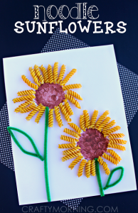 Noodle Sunflower Spring Summer Craft For Kids Crafty Morning