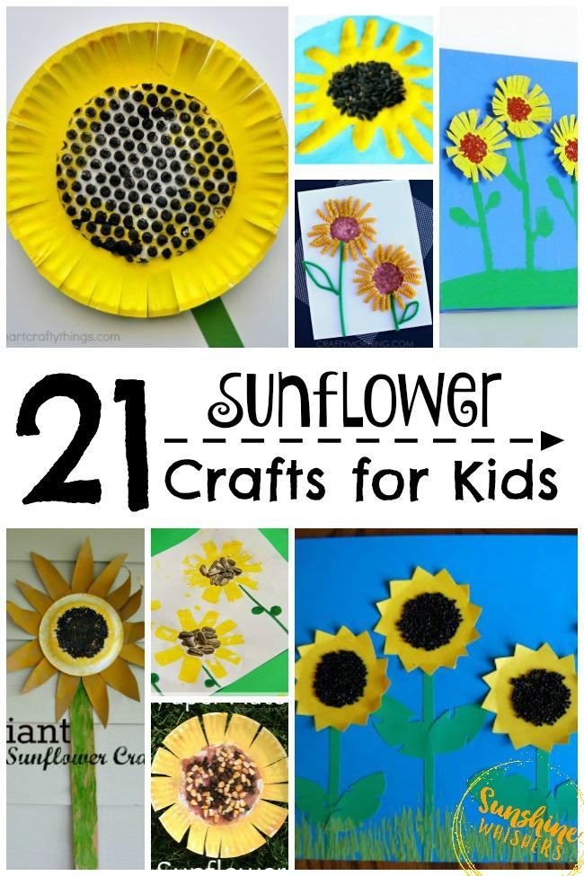 Happy Sunflower Crafts For Kids