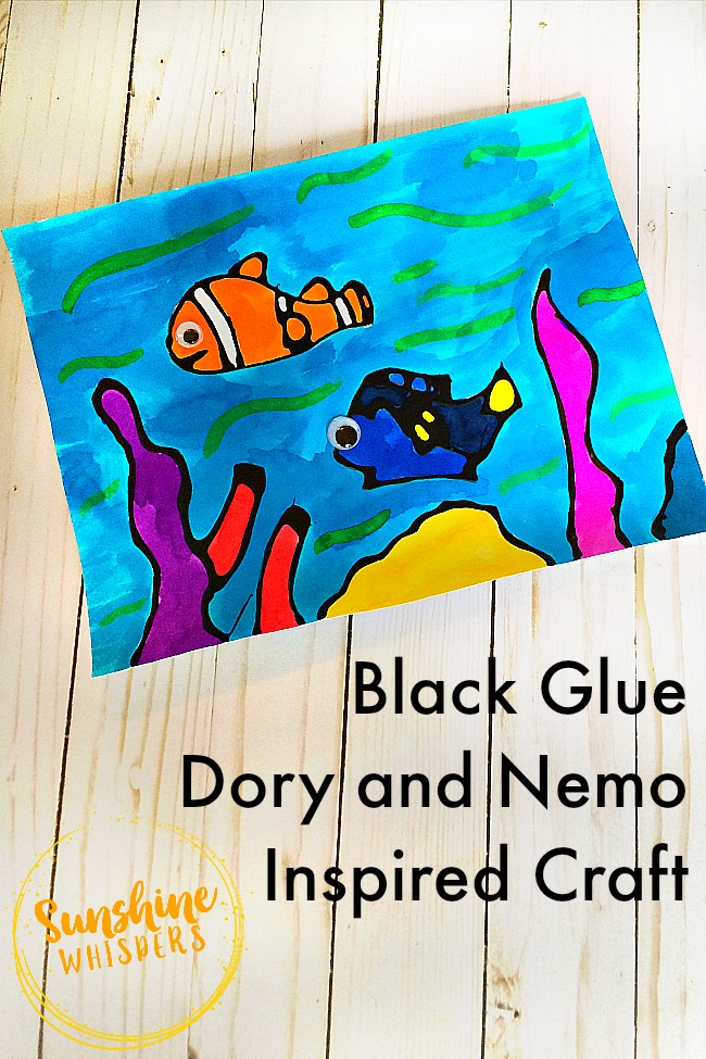black glue Dory and Nemo craft