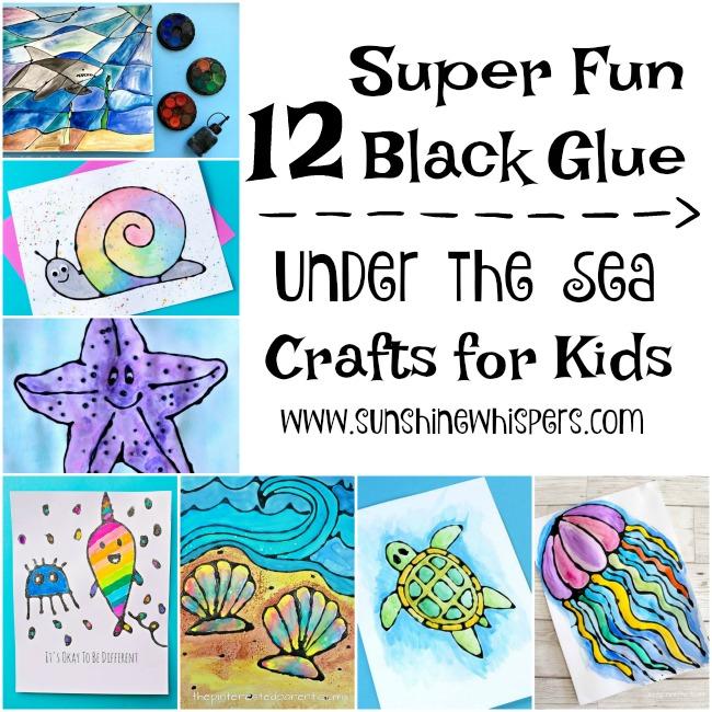 black glue under the sea crafts