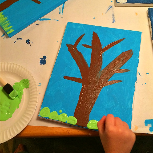 cork painting craft for kids