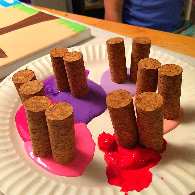 cork painting crafts